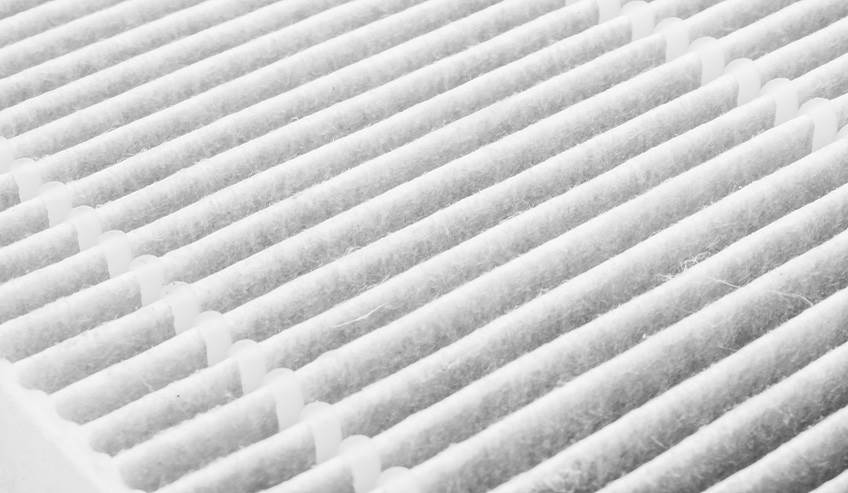 Close up of an air filter.